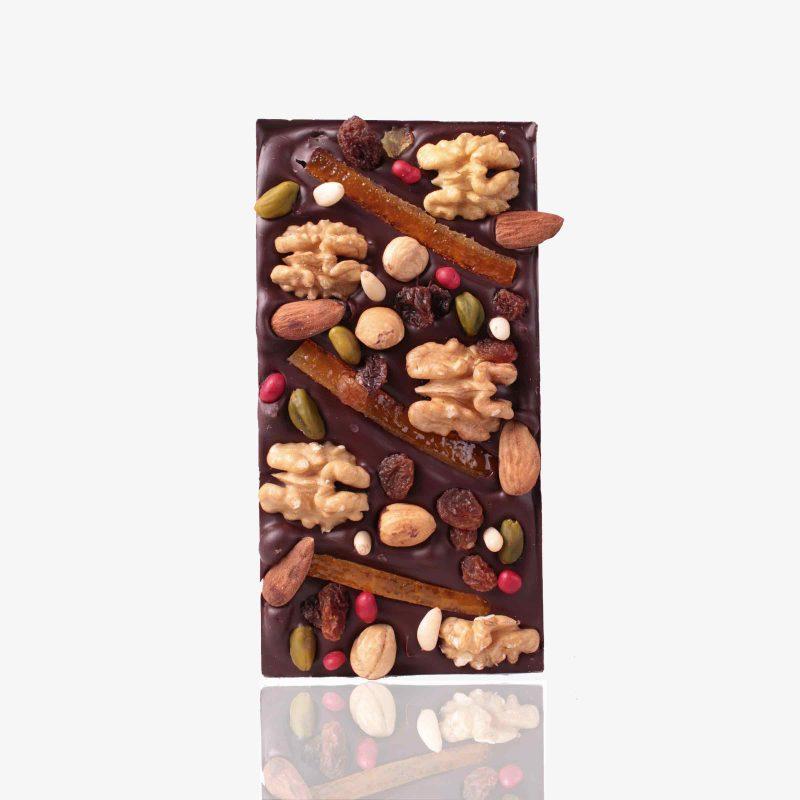 Tabletas Chocolate con frutos del Mediterraneo