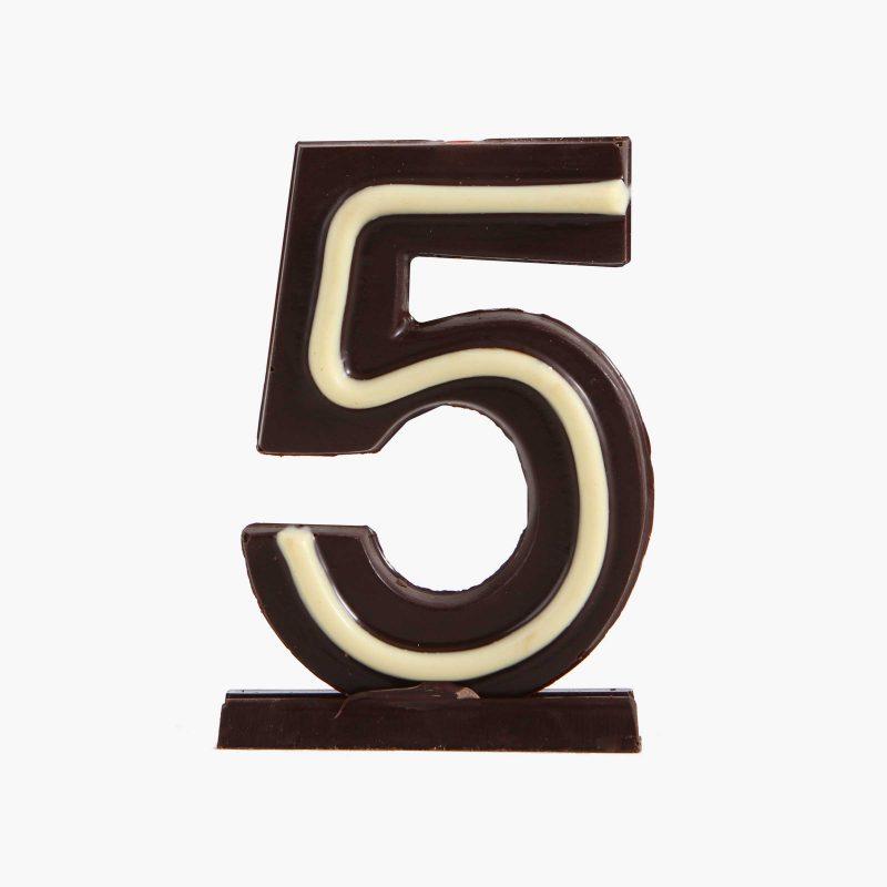 Velas de cumpleaños Vela cumpleaños de chocolate  Nº5