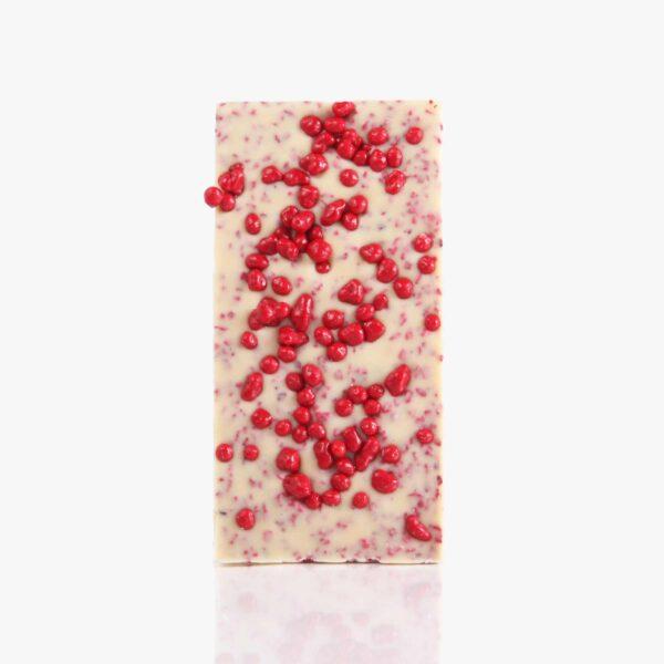Tabletas Chocolate Blanco con frambuesa